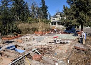 Deconstruction front yard